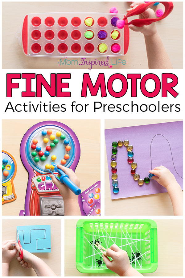 Fine motor activities for preschoolers that are fun, engaging and effective! These fine motor