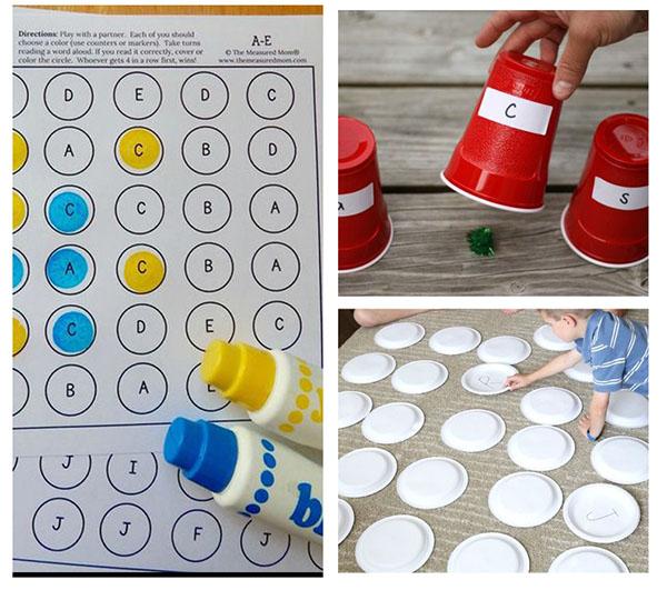 Teaching the ABCs in preschool and kindergarten.