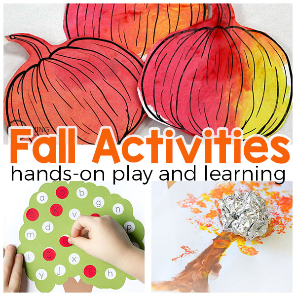 These fall activities for kids are all hands-on and super fun. From apples to pumpkins to leaves and more, these fall activities are sure to be a hit with the kids!