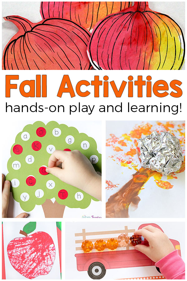 The best fall activities for preschool, pre-k and kindergarten! Fun fall activities for math, literacy, science, art and more!