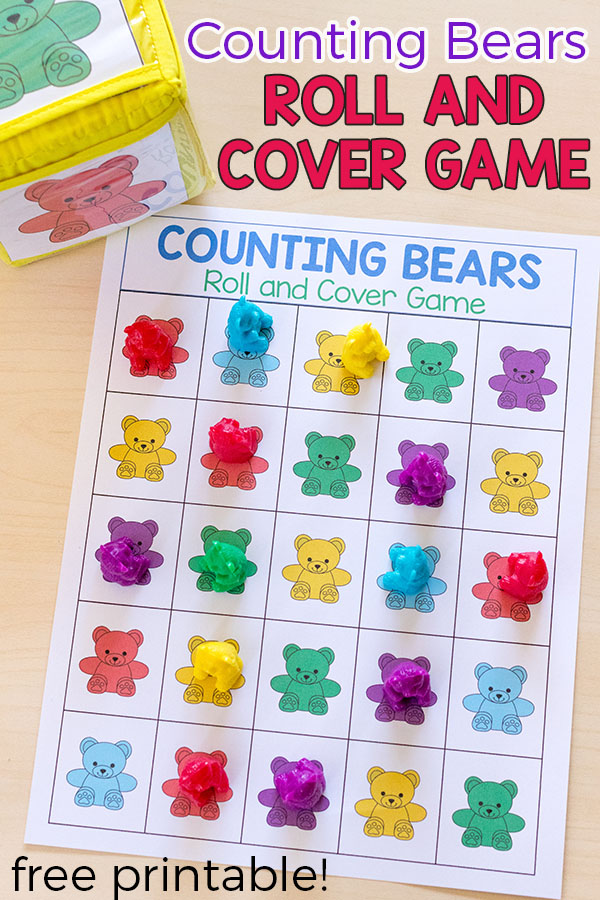 Counting bears games and activities for kids. Lots of fun ways to learn and play with counting bears!