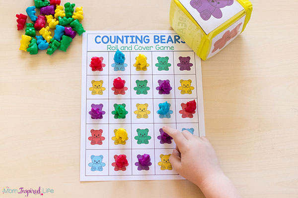 Teddy bear counters activities for kids.