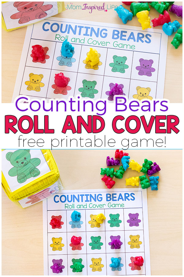 Your kids will love this fun counting bears math game! There are several ways to play and a variety of math skills you can develop with this free printable math game.