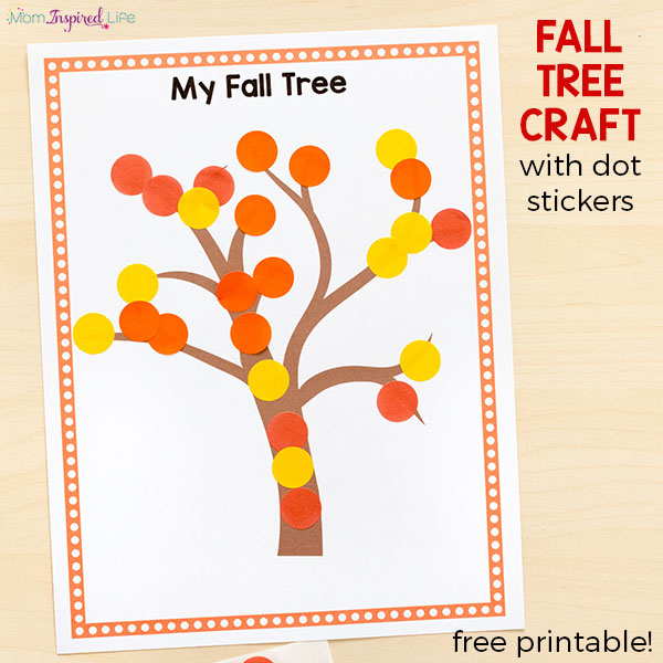 Easy fall craft for toddlers and preschoolers.