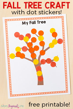 Fall tree craft for preschoolers. This fall tree art activity is a fun way to develop fine motor skills this fall!