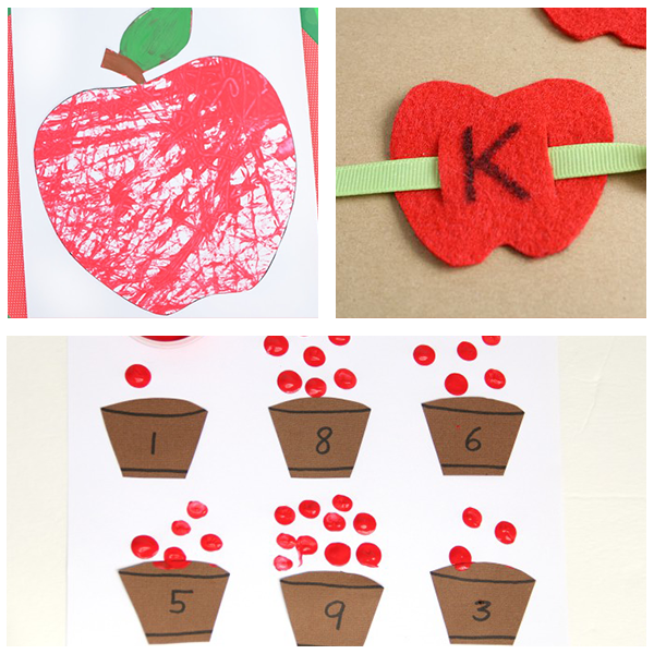 Fall apple tree for preschoolers