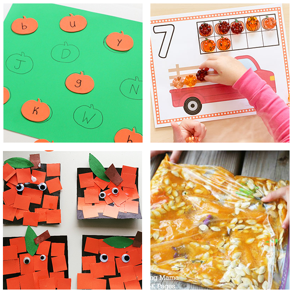 Fall pumpkin activities for preschoolers