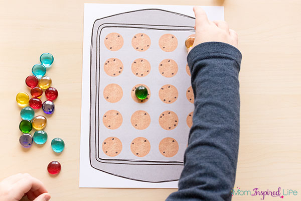 Cookie theme math center idea for kids.