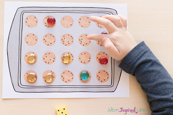 Teach number sense with this cookie number sense math game.
