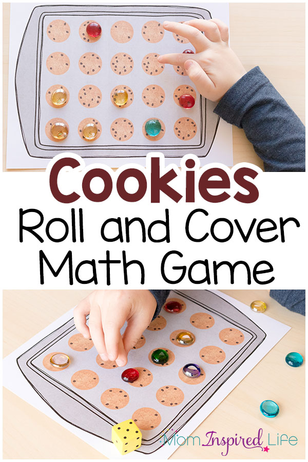 A fun cookie theme math game for preschool, kindergarten and first grade!