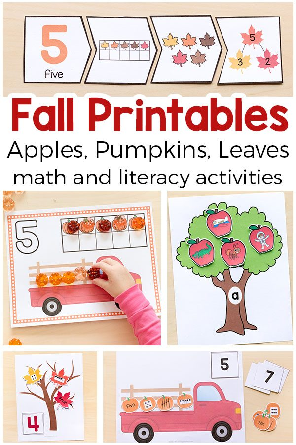 Printable fall activities for pre-k and kindergarten. Fun fall activities that your kids will enjoy!