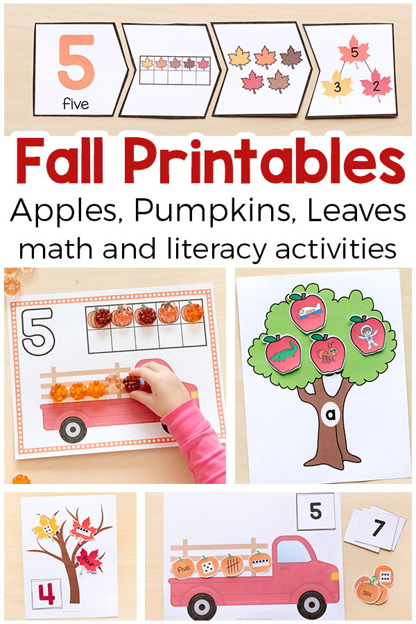 graphic relating to Fall Printable Activities identified as Drop Printable Things to do for Pre-K and Kindergarten