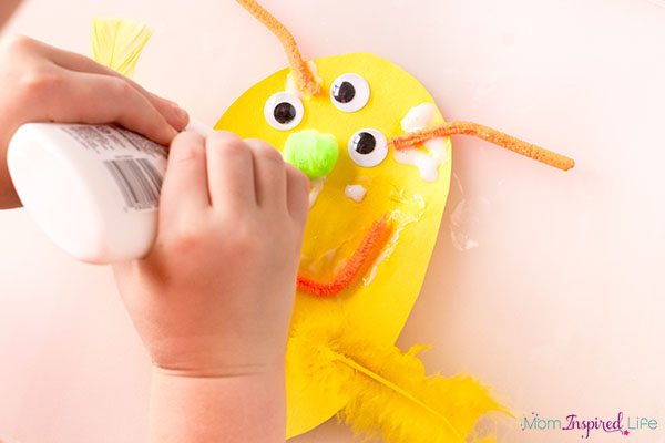 A fun monster craft activity for kids.