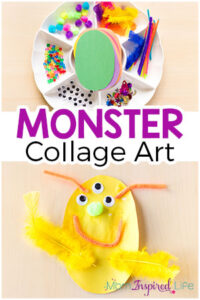 Monster Collage Arts and Crafts Activity for Kids
