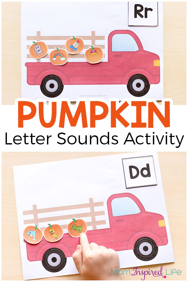 This printable pumpkin alphabet activity is a hands-on way to learn letter sounds. It's perfect for literacy centers this fall.