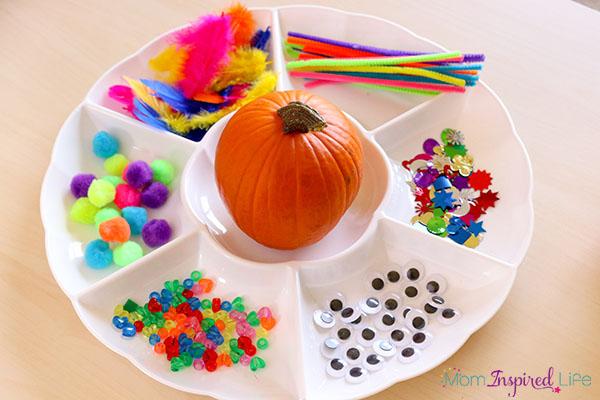 A fun pumpkin collage activity for fall.