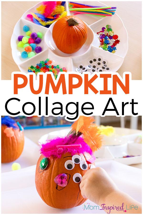 Pumpkin art activity for kids. A process art activity for fall.