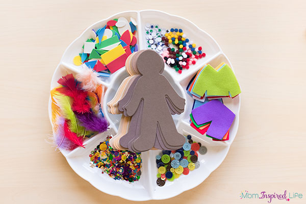 Multicultural paper doll puppets. A fun diversity craft for kids.