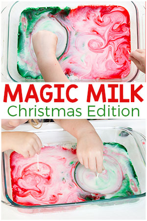 Christmas Magic Milk Science Experiment