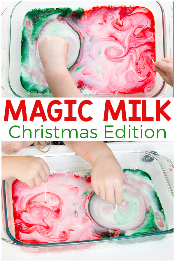 This Christmas magic milk science experiment is such a fun and exciting way to add science to your holiday celebrations.
