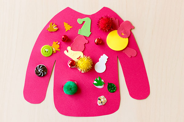 Christmas collage art activity for kids.