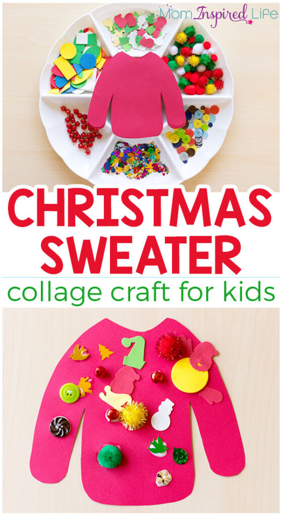 craft ideas for kids for christmas sweater collage craft for 7582