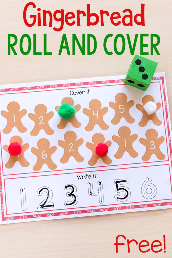 Gingerbread number sense activity mats for kindergarten and preschool.