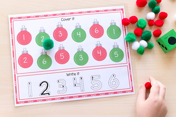 Kids will have fun learning number sense with this math activity mats.