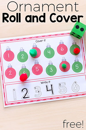 These ornament roll and cover mats are a fun way for kids to develop literacy and math skills. They would be perfect for Christmas centers or for at home.