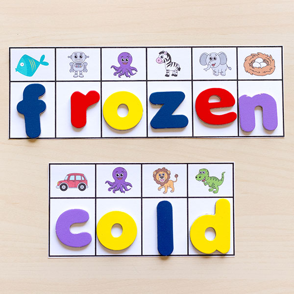 Practice building words with this secret code seasonal words activity for kids.