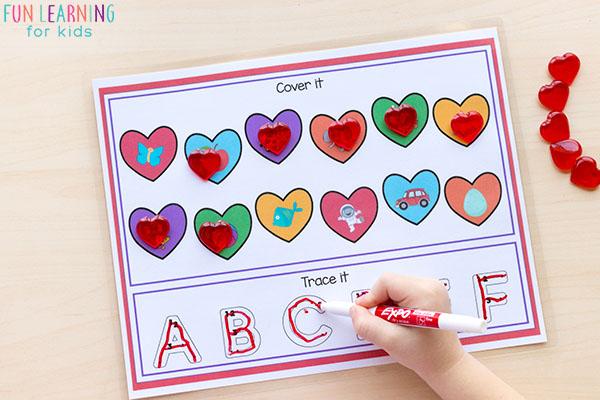 Kindergarten Valentine's Day activities.