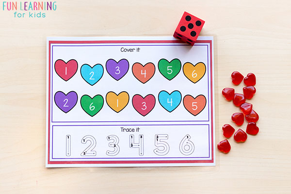 Number sense heart activity for Valentine's Day.