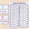 Number bond puzzles with ten frames.