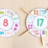 Number sense clip wheel cards.