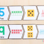 4 piece number puzzles