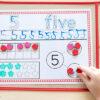Number sense activity mats