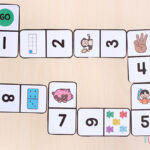 Number dominoes make learning math fun and hands-on!