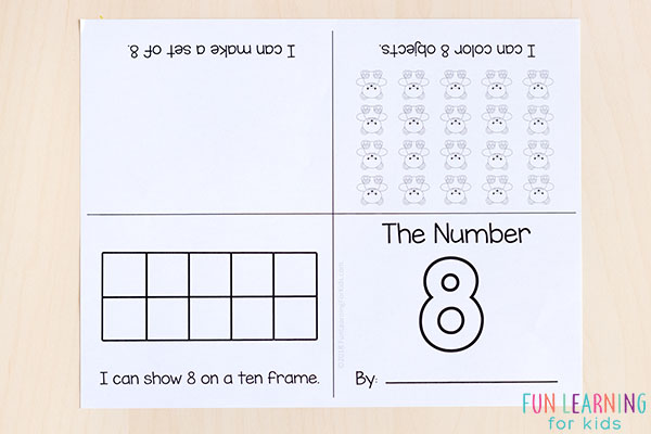 Interactive number sense mini books.