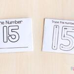 Foldable number mini books