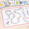 Learning numbers 1-5 board game.