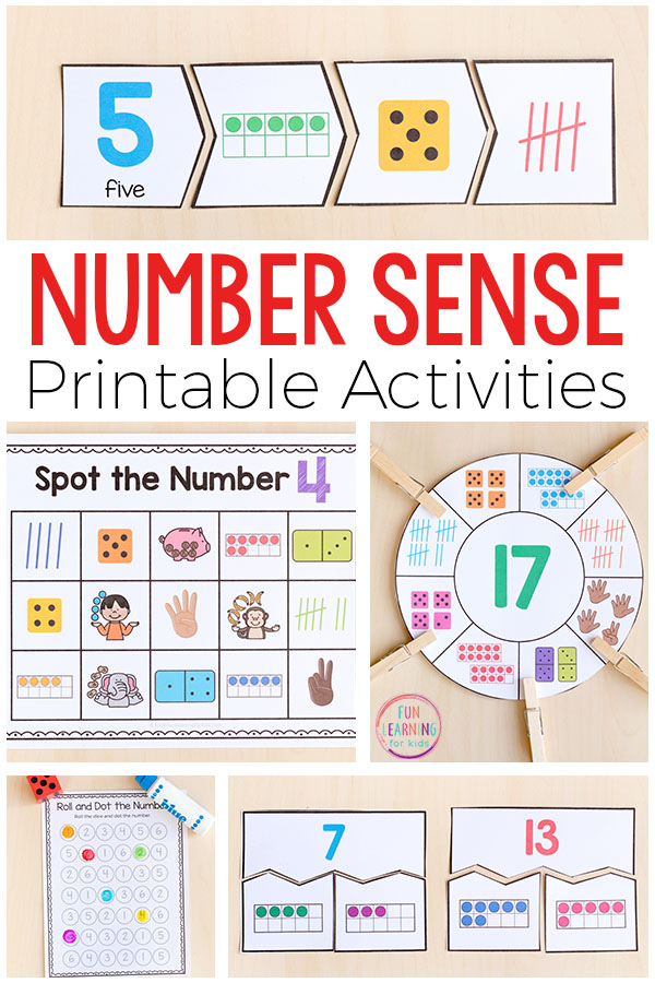 Printable Number Sense Activities for Kindergarten and First ...
