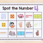 Spot the number mats for teaching numbers and counting.