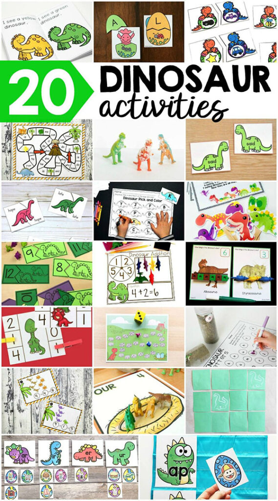 Dinosaur learning activities for kids