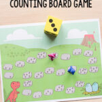 Dinosaur Board Game Counting Activity