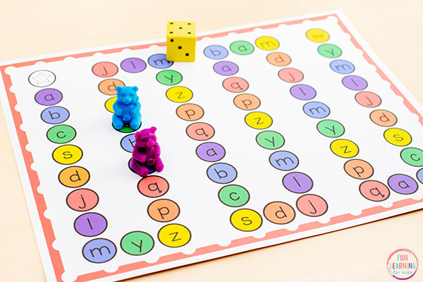 A fun alphabet game to learn letters and sounds. Perfect for alphabet centers or literacy centers or small groups.