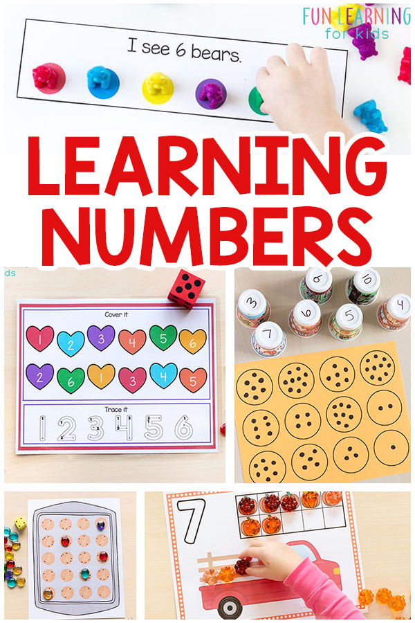 Learning numbers can be fun and engaging. These number activities are perfect for math centers and fun at home.