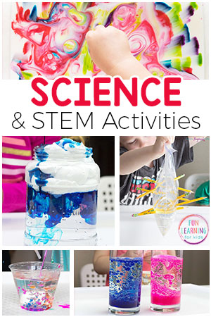 Exciting science activities that your kids will love! These simple science experiments and STEM activities are sure to engage and excite your kids.