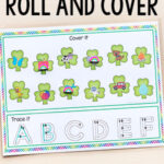 Shamrock Roll and Cover Letter Sounds Activity for St. Patrick's Day