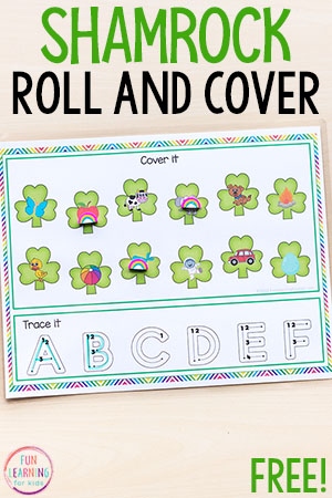 Fun St. Patricks's Day alphabet activity for kids.