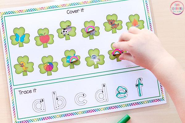 St. Patrick's Day alphabet printables for your literacy centers.